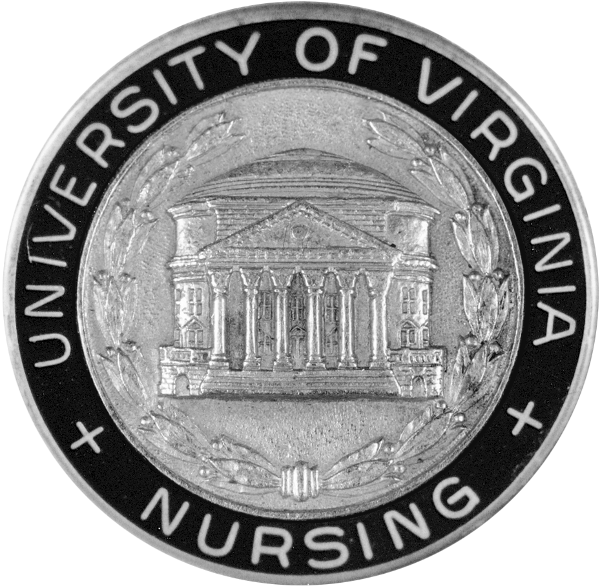 The 1903 U.Va. Hospital School of Nursing pin was replaced by a new design in 1956, when the school became an independent academic unit of the University.