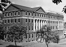 The John Staige Davis neuro-psychiatric wing of the hospital was completed in 1939.  Albert and Shirley Small Special Collections Library, University of Virginia.