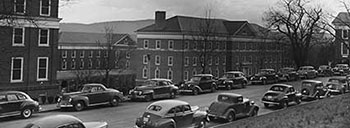 In 1946 McKim Hall was enlarged to accommodate the growing nursing program.  Courtesy of Historical Collections & Services, Claude Moore Health Sciences Library, University of Virginia.