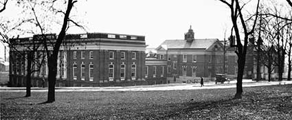 In 1916 the new Steele Wing increased patient capacity to 200 beds and accommodated an Outpatient Department to the U.Va. Hospital. Kal W. Howard donation,  Eleanor Crowder Bjoring Center for Nursing Historical Inquiry, University of Virginia School of Nursing.