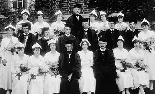 1919 graduating class. Eleanor Crowder Bjoring Center for Nursing Historical Inquiry, University of Virginia School of Nursing.