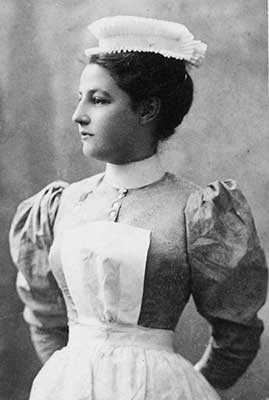 Charlotte E. Martin, the first superintendent of nursing, University of Virginia Hospital, 1901. Used by permission of the Mehring Family.