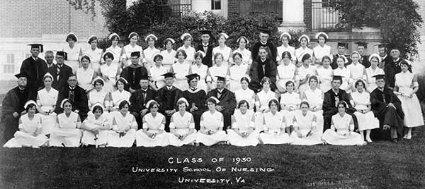 University of Virginia Hospital School of Nursing graduating class of 1930.  Eleanor Crowder Bjoring Center for Nursing Historical Inquiry, University of Virginia School of Nursing.