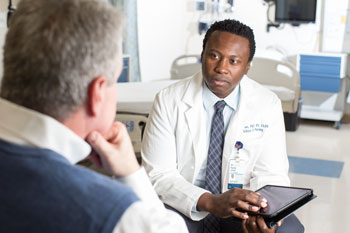 UVA School of Nursing's Dr. Randy Jones interviews a patient as part of $2.2M NIH grant to create a decision-aid for men with prostate cancer