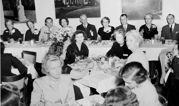 The fiftieth anniversary of the School of Nursing was celebrated in 1951 with special events and guests.	Carrie Mays Cook (DIPLO 1927) donation to the ECBCNHI. Eleanor Crowder Bjoring Center for Nursing Historical Inquiry, University of Virginia School of Nursing.