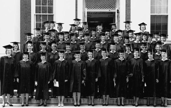 BSN graduates of 1965.	Eleanor Crowder Bjoring Center for Nursing Historical Inquiry, University of Virginia School of Nursing. Ed Roseberry, Photographer.