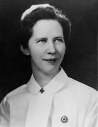 Virginia H. Walker, RN, director of nurses and nursing services, 1941-1946. Eleanor Crowder Bjoring Center for Nursing Historical Inquiry, University of Virginia School of Nursing.