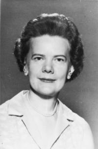 Evelyn Bacon, MS, RN, acting chair of the Department of Nursing Education, 1954-1956.	Eleanor Crowder Bjoring Center for Nursing Historical Inquiry, University of Virginia School of Nursing.