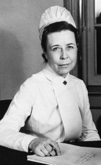 Claire M.J. Wangen, MA, RN, who headed the school from 1937 to 1941, was the first U.Va. superintendent of nursing to hold a master's degree. Claire Wangen, Superintendent of Nurses, Hollsinger Collection, Albert and Shirley Small Special Collections Library, University of Virginia