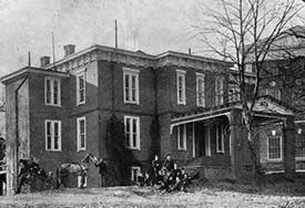 Varsity Hall, the first student nursing residence located outside of the hospital. Varsity Hall, Albert and Shirley Small Special Collections Library, University of Virginia.
